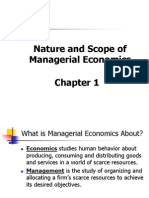 Chapter Nature and Scope of Managerial Economics