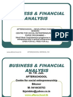 18 July Business & Financial Analysis