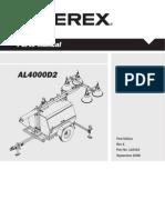 Terex Genie AL4000 Parts Manual