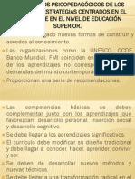 FUNDAMENTOS PSICOPEDAGÓGICOS DE LOS ENFOQUES Y ESTRATEGIAS CENTRADOS EN EL APRENDIZAJE EN EL NIVEL DE EDUCACIÓN SUPERIOR.