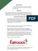 Ejercicio y Actividad Fisica