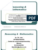 7 August Reasoning and Quantitative Aptitude II