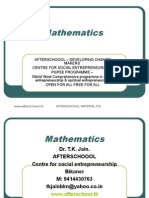 11 August Mathematics