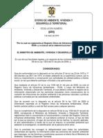 Res 415 de 2010 Reglamentación RUIA