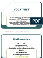 12 August Mock Test II