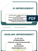 13 August English Improvement