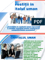 Investitii in Capitalul Uman - Crivoberet Cristina