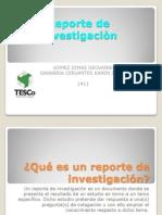 Reporte de Investigaciòn