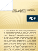 El Simbolismo de La Guerra en Grecia y Roma - Power Point