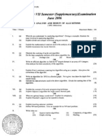 Analyisis and Design of Algoriths June 2006 (02 Ad)