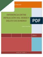 Diferencia Entre Infraccion Del Deber y Delitos de Dominio