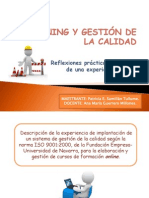 E-LEARNING Y GESTIÓN DE LA CALIDAD
