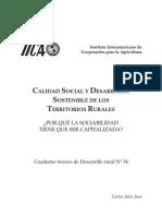Calidad Social y Desarrollo Sostenible de Los Territorios Rurales