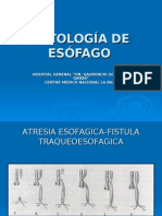 Patologias Del Esofago M BOBADILLA