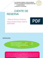 COEFICIENTE DE RESERVA