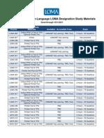 Designation Study Materials Roadmap
