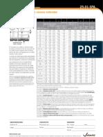 Especificaciones Ranurada Estandar 25.01-SPA