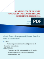 A Study on Viability of Islamic Finance In