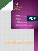 CONCEPTOS GENERALES DE LA ORGANIZACIÓN