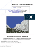 The Nondual Philosophy of Franklin Merrell-Wolff