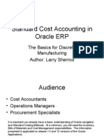 Standard Costing Oracle Apps