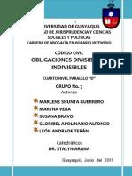 Obligaciones Divisibles e Indivisibles - Grupo No. 7