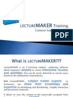 Lecture Maker Training