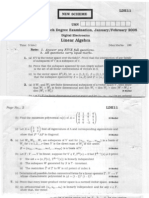 Linear Algebra 2005-06(3 Q.P.)