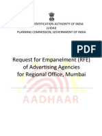 Rfe for Advertising Agencies Mumbai Ro