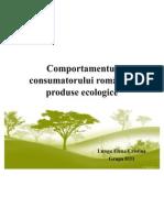 Comportamentul consumatorului român de produse ecologice
