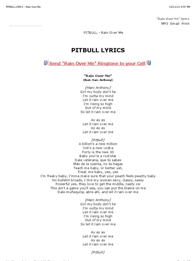 pitbull rain over me ft marc anthony ringtone free download