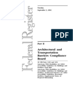Architectural - 36 CFR 1190-1191