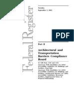 Architectural - 36 CFR 1190-1191