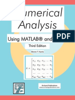 Numerical Analysis Using MATLAB and Excel Steven T. Karris