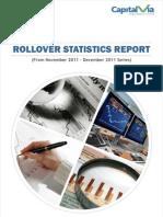 Rollover Statistics(From Nov 2011 to Dec 2011 Series)