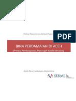 Bina ian Di Aceh - Memacu Pembangunan Mencegah Konflik
