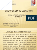 DISEÑO DE BLOGS EDUCATIVOS