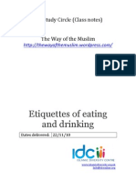 17 - Etiquettes of Eating and Drinking