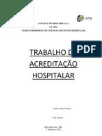 TRABALHO DE ACREDITAÇÃO HOSPITALAR