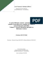 Le genre littéraire western Western VOL3 Thesaurus - Volume 3