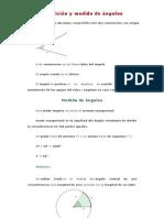 Definición y medida de ángulos