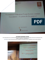 Assessment a System Fit for Purpose