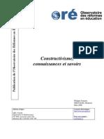 Constructivisme Connaissances Et Savoirs - PhJ_articleLux-Formaté(PB02)-Version Finale Aout 2006