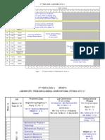 Timetable 2010