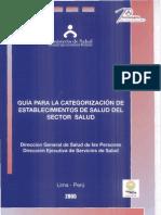 Guia de Categorizacion de Centros de Salud