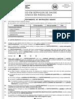 prova 58 - técnico em serviços de saúde - técnico em radiologia