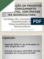 III Classificação e Caracterização de empreendimentos de suinocultura
