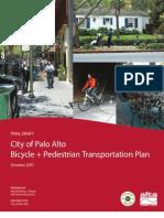 Oct 2011 Final Draft Palo Alto Bike-Ped Plan
