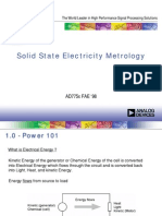 Solid State Electricity Metrology