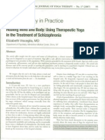 Healing Mind and Body--Using Therapeutic Yoga in the Treatment of Schizophrenia